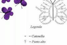 farfalle e cuori all'uncinetto