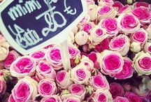 Roses in Paris (Marché Avenue du President Wilson) / Every Wednesday, I would buy fresh roses from the flower stand at this market.  The freshness, selection and service were always impeccable.  Plus, they'd always give me one extra rose as un cad eau (gift).  And warned my boyfriend not to buy me yellow roses (a sure sign in France that you're admitting cheating).  Big French kiss-kiss, La Flirt / by Flirt Like a French Girl