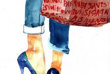 fashion illustration- shoes