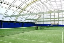 Recreational & Retail / Accu-Steel fabric covered buildings are ideal for indoor arenas, equestrian riding arenas, as well as retail stores and entertainment.