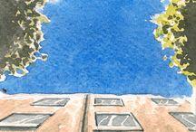 Un dessin par jour / Mon ptit defi sur l'année : faire un dessin par jour sur un format 10 cm x 10 cm en couleur, à l'aquarelle. L'ensemble des dessins est visible sur ce blog : http://inkonikosday.tumblr.com/