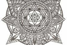 Sacred Geometry Art - Illustration and Drawings / Illustration, Drawings, Design
