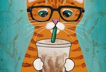 lovely Cat Cartoon and Illustrations