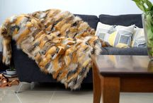 Fox Red Real Fur Blanket Throw
