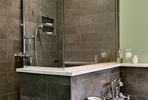 master bath...and bed / bathroom / by Bridget Shore
