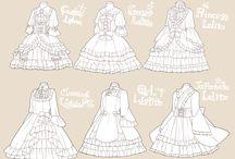 옷 서양 드레스