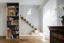 Escaliers droits bois