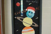 Holiday Door decorations - science