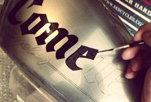 Comete Motorcycles / Lettering by Bruno Allard creation ©