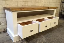TV and Audio units / TV and Audio units in oak, Pine and Painted woods. All bespoke and made for each customer.