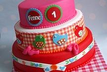Marsepein/fondant taart, cupcake en cakepops