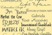 printables/fonts / by Melissa Hirschi