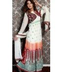 70% OFF - Pakistani Georgette Anarkali Suit / 70% OFF - Sizzling White And Red Pakistani Georgette Anarkali Suit. Style - Anarkali Suit,Color -White,Red,Dupatta - Chiffon,Fabric - Georgette,Velevet,Work - Embroidery Work,Lace Work,Zari Work. http://bit.ly/1V19Ps6