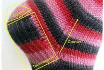 носки приемы вязки