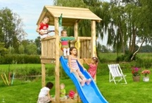 Climbing Frames for Small Gardens / A selection of climbing frames suited to small gardens. Theses wooden climbing frames are packed full of features and designed with smaller gardens in mind. More details at www.wooden-climbing-frames.com