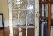 Decor using old window