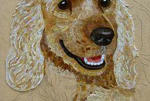 Honden mozaiek
