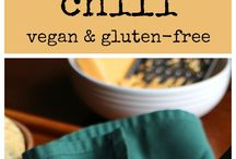 Recipes | Chili / Dairy-free, meatless, eggless, vegan, vegetarian, and plant-based chili recipes