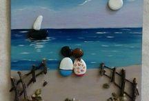 quadros com pedra praia