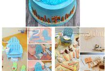 Bolos Praia / Ideias de bolos