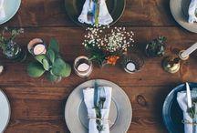Dinner Table Illustrations
