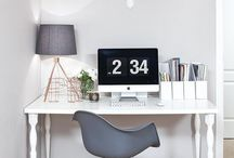 Home Office Ideas / Home office ideas, design, organisation and inspiration. Small, rustic, masculine, feminine, modern and Scandinavian home offices.