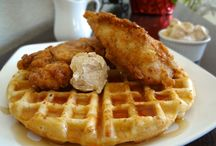 CHICKEN and WAFFLES / by Eve Bent