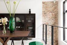 Inrichting / Meubels en accesoires in woonhuizen ontworpen door BNLA architecten