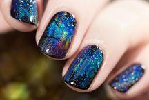Nail art opal
