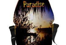 Paradise / Paradise Wording with Beach Background