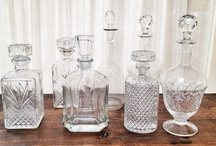 GLASS VASES / Different sizes and shapes of glass vases