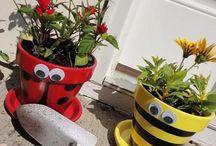 Painted pots / by Dawn Clontz