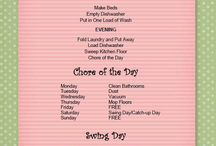 Cleaning tips & schedules / by Debbie Reed