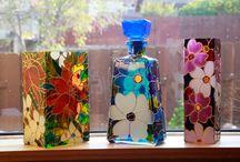 cam boyama / glass painting