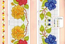 Cross stitch flowers, punto croce fiori