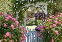 cottage garden picket fence