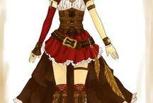 little red riding hood steampunk / las imagenes en las que me voy a inspirar para mi cosplay