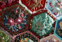 Crazy quilts / Hexagons