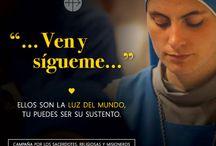 """Campaña """"Ven y Sígueme"""" / Campaña por los sacerdotes, religiosas y misioneros del mundo entero en el año de la Vida Consagrada."""