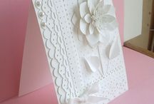 All white flower / lace