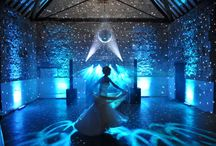 Our Work // Special Effect & Party Lighting / Lighting by Oakwood Events Ltd. Ways to use special effect lighting for a great atmosphere at evening receptions. All the pins here are our own work.