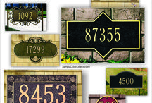 Address Plaques for your Home