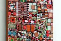 quadros de paredes com mosaico