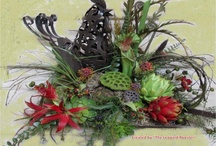 "Floral designs / Not only do I love beautfiul flowers, I also have a passion for creating my own floral designs and have started a small side business under the name of ""The Leopard Rooster.""   Even the simplest of arrangements can enhance your decor.   / by Kathy Tutor"