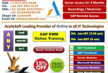 SAVE 15% !! Attend FREE DEMO on SAP EWM Online Training from AcuteSoft .