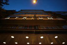 Bauhaus Konferencia -  2014.okt.13. / A Május 1. moziként is ismert modern Kozma Lajos épület mintegy egy évtizedes bezártság után 2012 őszén Átrium Film-Színház néven nyílt meg újra. A színház működtetői kiemelten fontosnak tartják a Bauhaus eszmeiségét, a művészettörténeti értékeit és a társadalomra gyakorolt hatását. Az intézmény vezetőinek célja, hogy az Átrium egyfajta Bauhaus központtá váljon Budapesten. Az Átrium Kozma Lajos tervező-építész egyik legismertebb épülete.