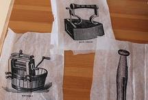 canvas art on tissue paper