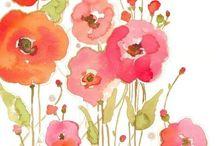 Flores de aquarela