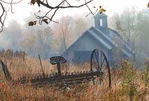 barns / by Debbie Pope Akers