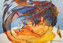 PRAGUE PRAHA Obrazy Frantiska Janeckova / Magic Prague Zlata Praha